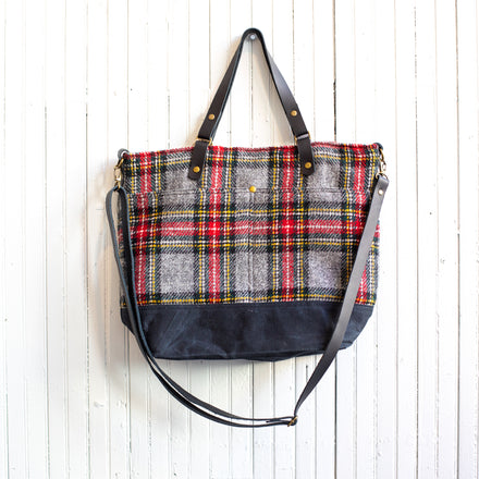 Solulu Handmade Harris Tweed Commuter Tote