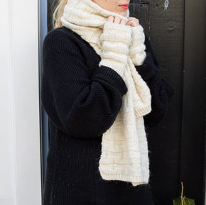 Helen Howe Hand-Knit Shawl, Beanie and Wrist Warmers