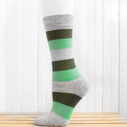 Striped Crew Hiking Socks