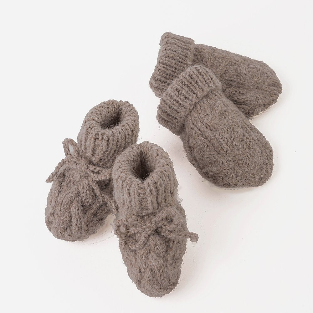 Llama Mittens and Booties Set
