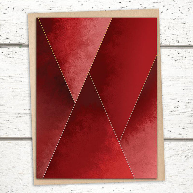 'Crimson Tones' Card