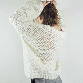 Michele & Hoven Michi Loop Hand-knitted Sweater