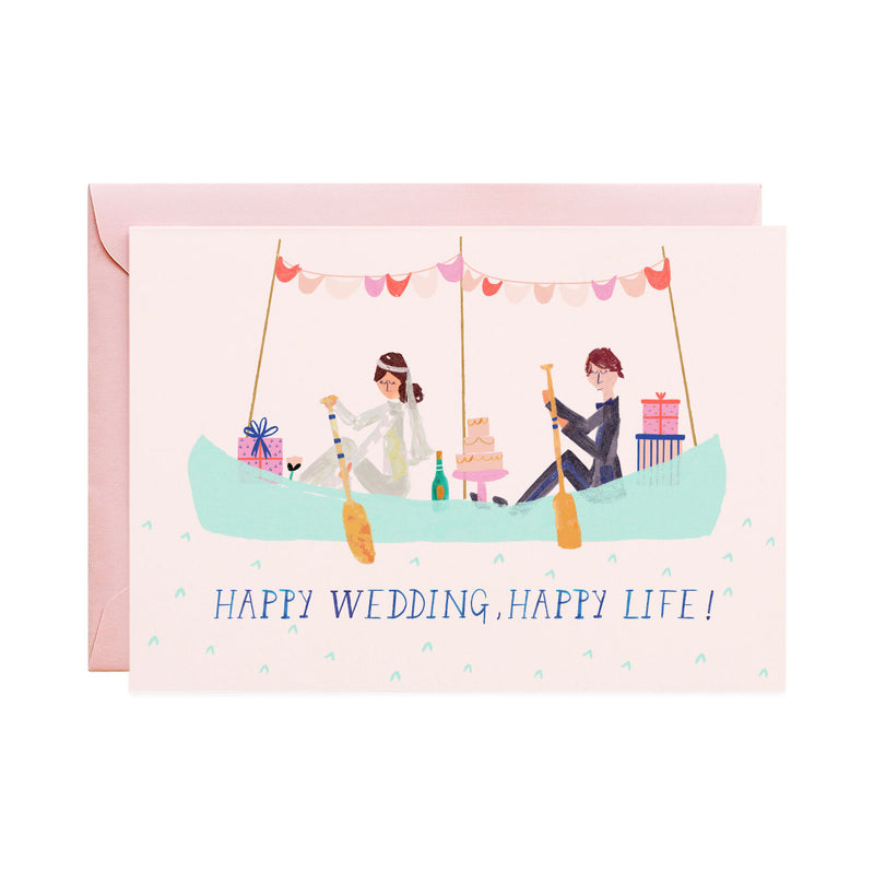 'Paddle to Bliss' Wedding Card