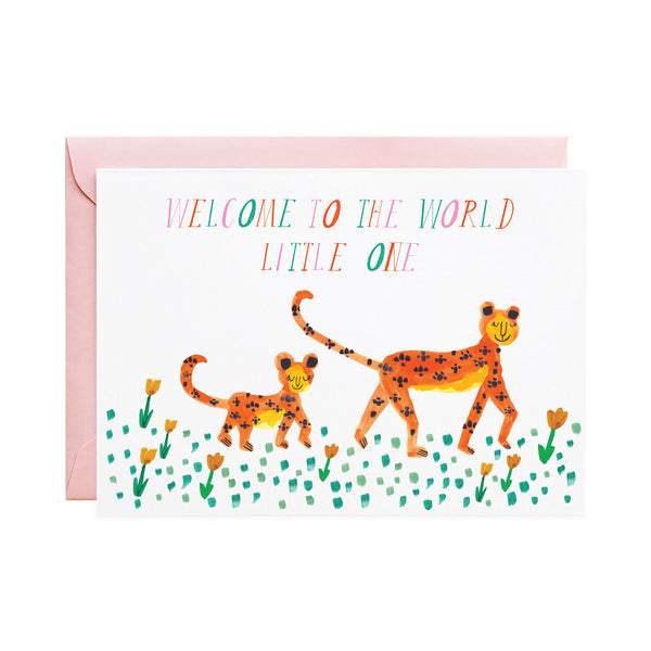 'Mummy Leopard' Newborn Card