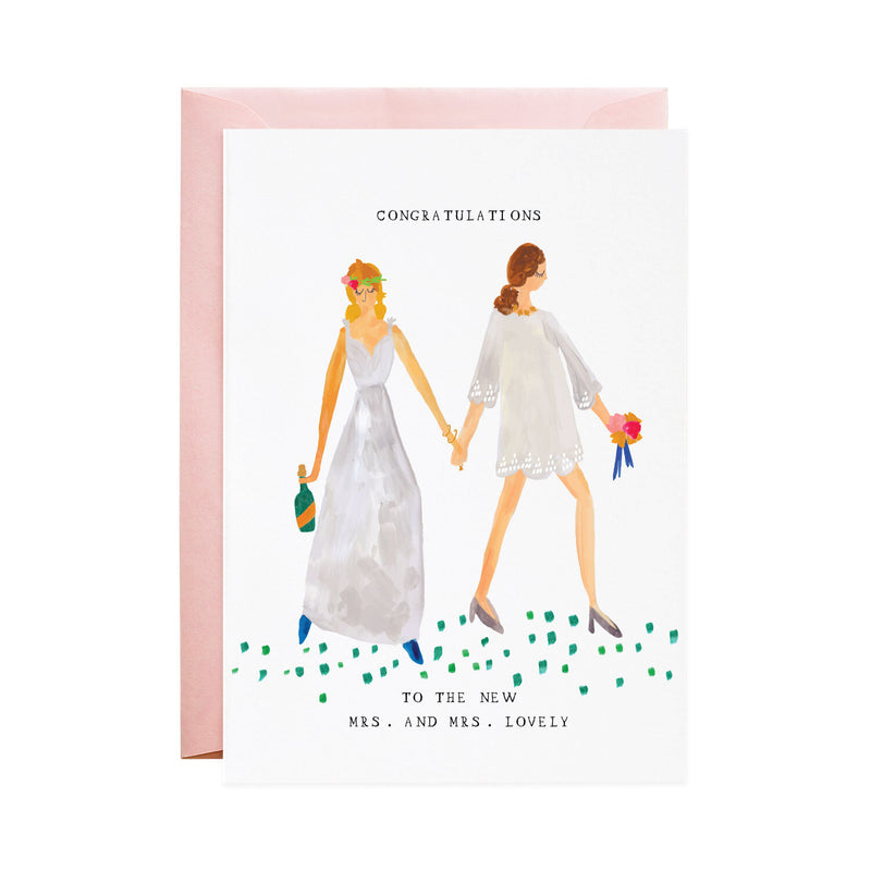 'The New Mrs. and Mrs.' Wedding Card