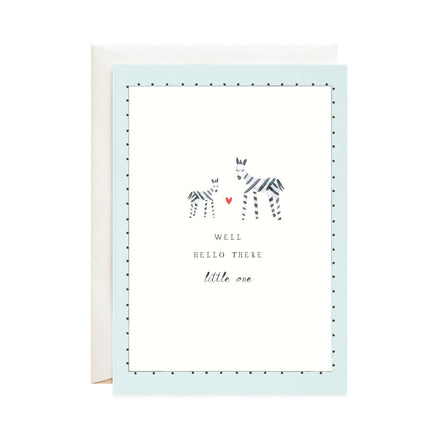 'Matching Stripes' Newborn Card