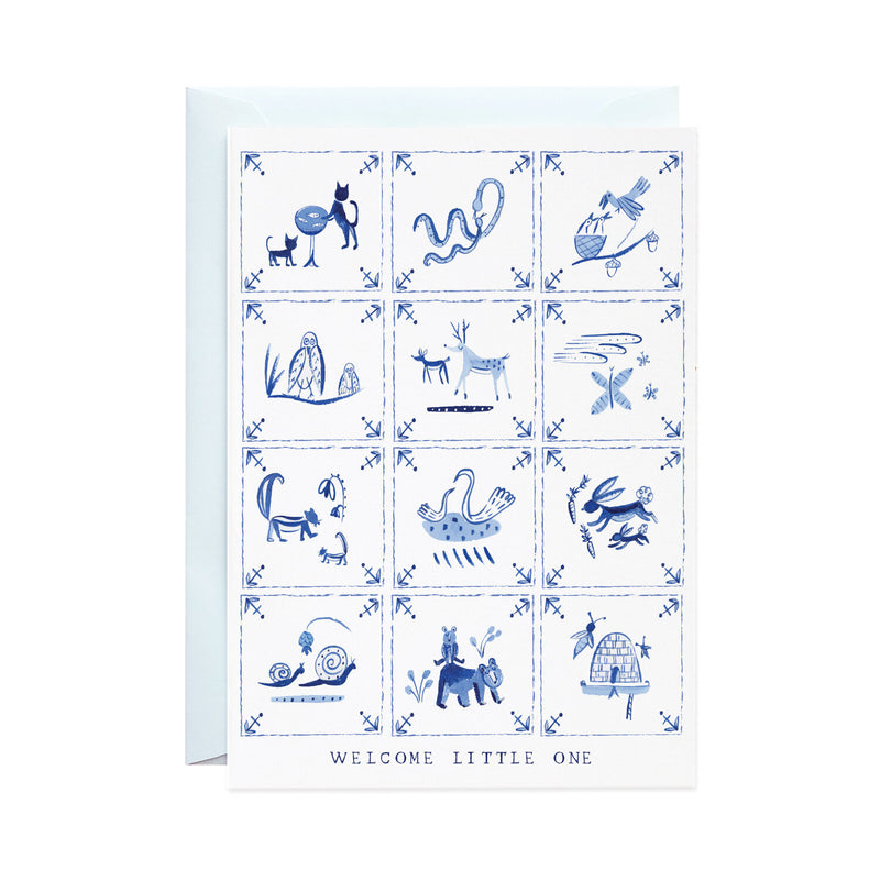 'Baby Delft Tiles' Greeting Card
