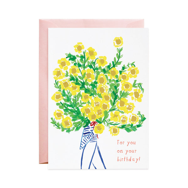 'The Biggest Bouquet On Your Birthday' Greeting Card