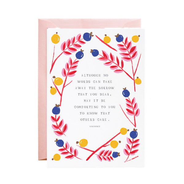 'I am With You' Sympathy Card