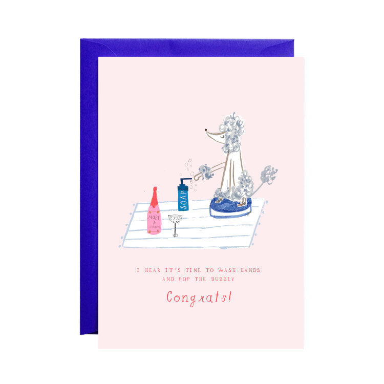 "'The Poodle Has The Champs"" Greeting Card"