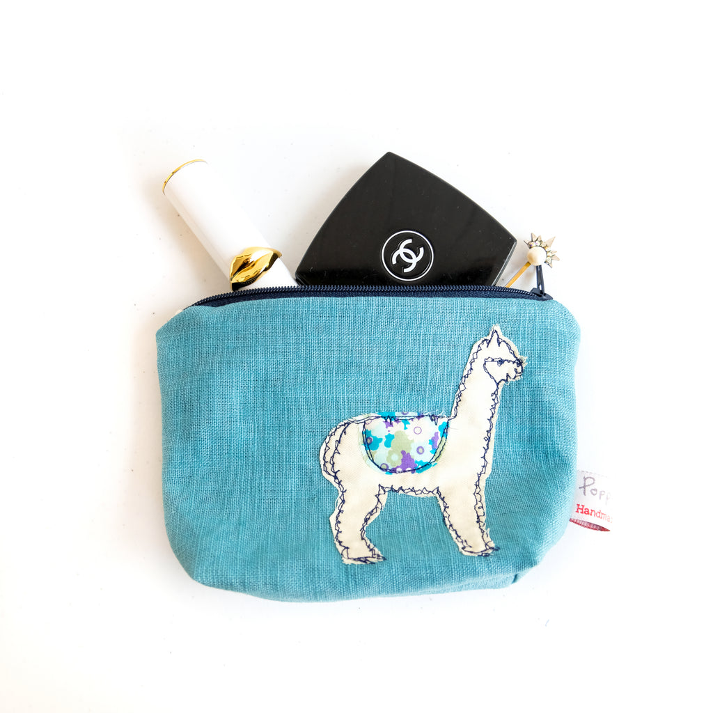Fluff Alpaca x Poppy Treffry Little Makeup Bag