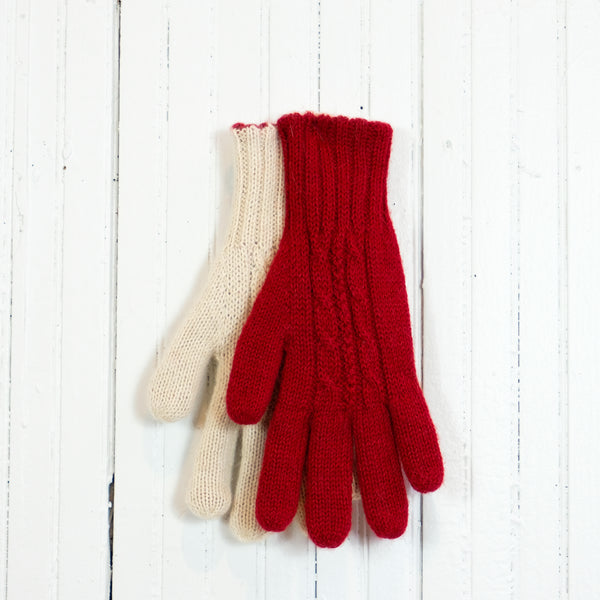 Reversible Cableknit Gloves