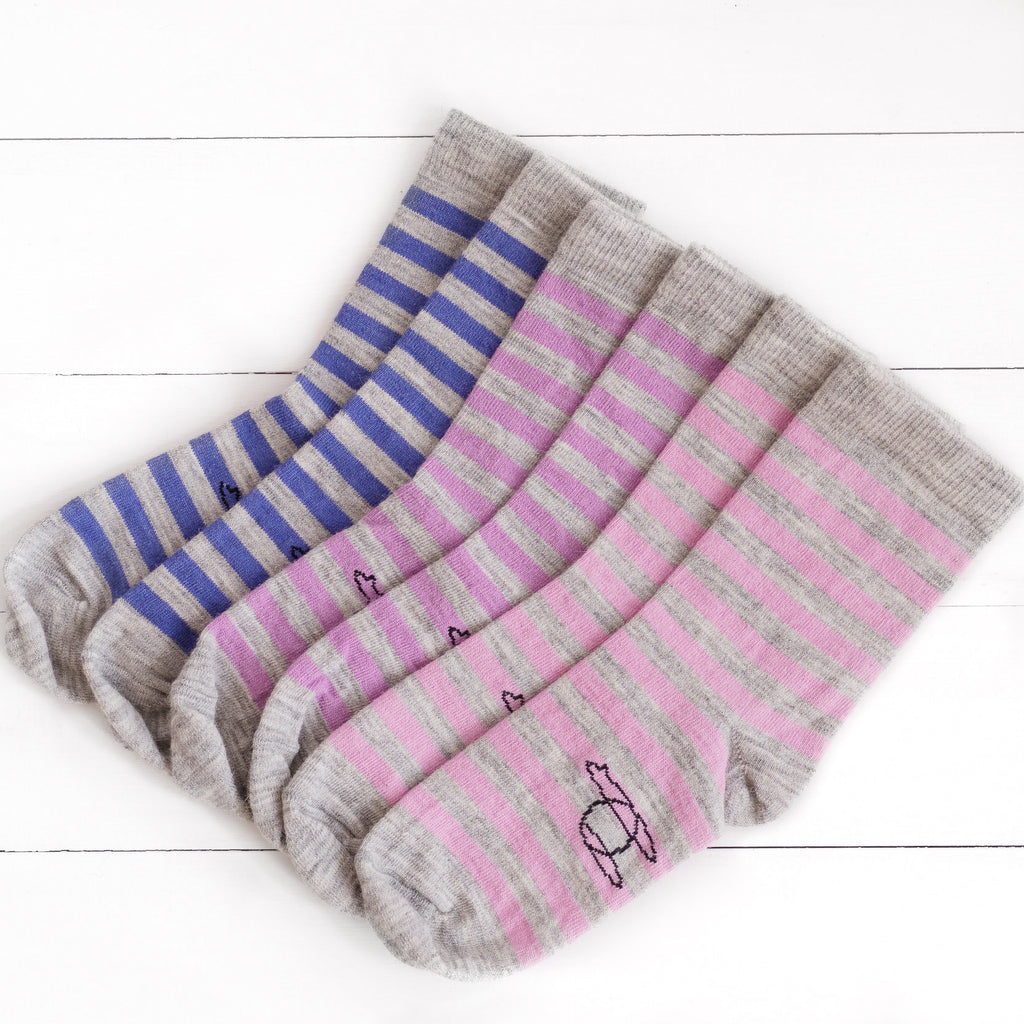 Echoview Alpaca Simple Striped Socks