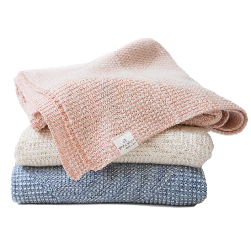 Echoview Organic Cotton and Alpaca Textured Baby Blanket