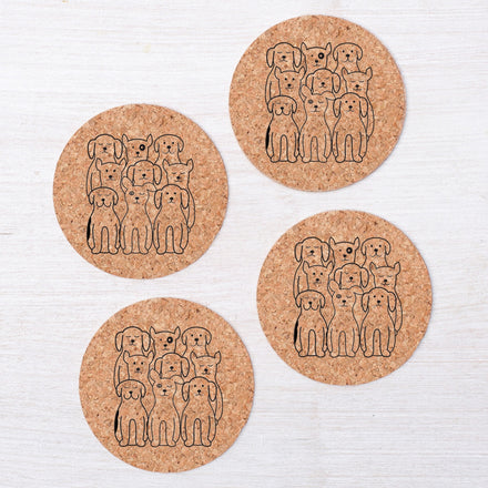 Animal Cork Coasters