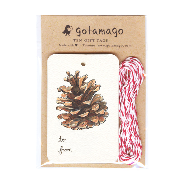 Pinecone Gift Tags (Set of 10)