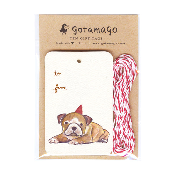 Party Dog Gift Tags (Set of 10)