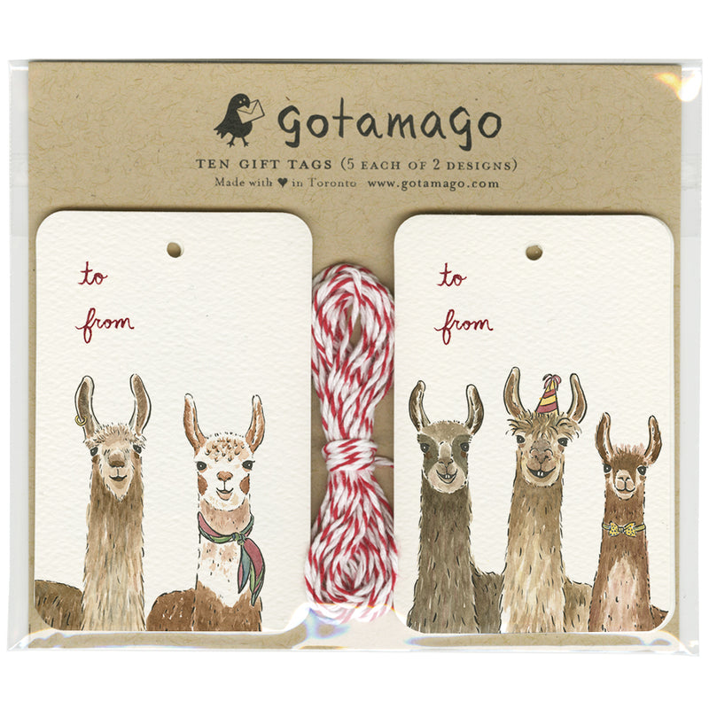 Party Llama Gift Tags