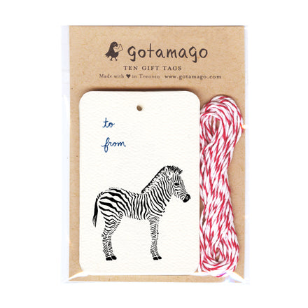 Little Zebra Gift Tags (Set of 10)