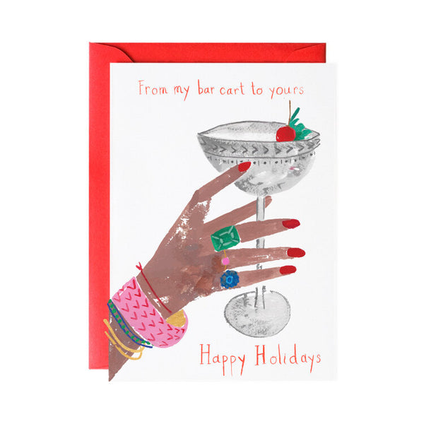 'From My Bar Cart to Yours' Greeting Card