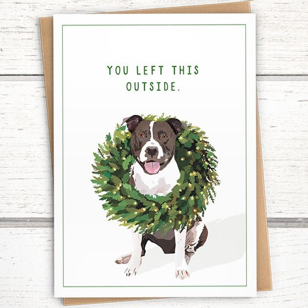 'You Left This Outside' Holiday Card