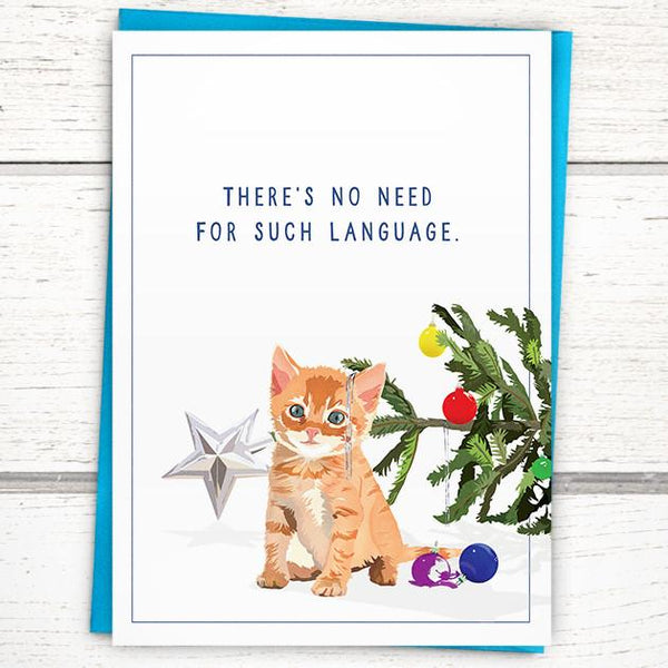 'No Need for Such Language' Holiday Card
