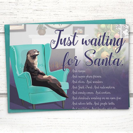 'Just Waiting for Santa' Holiday Card