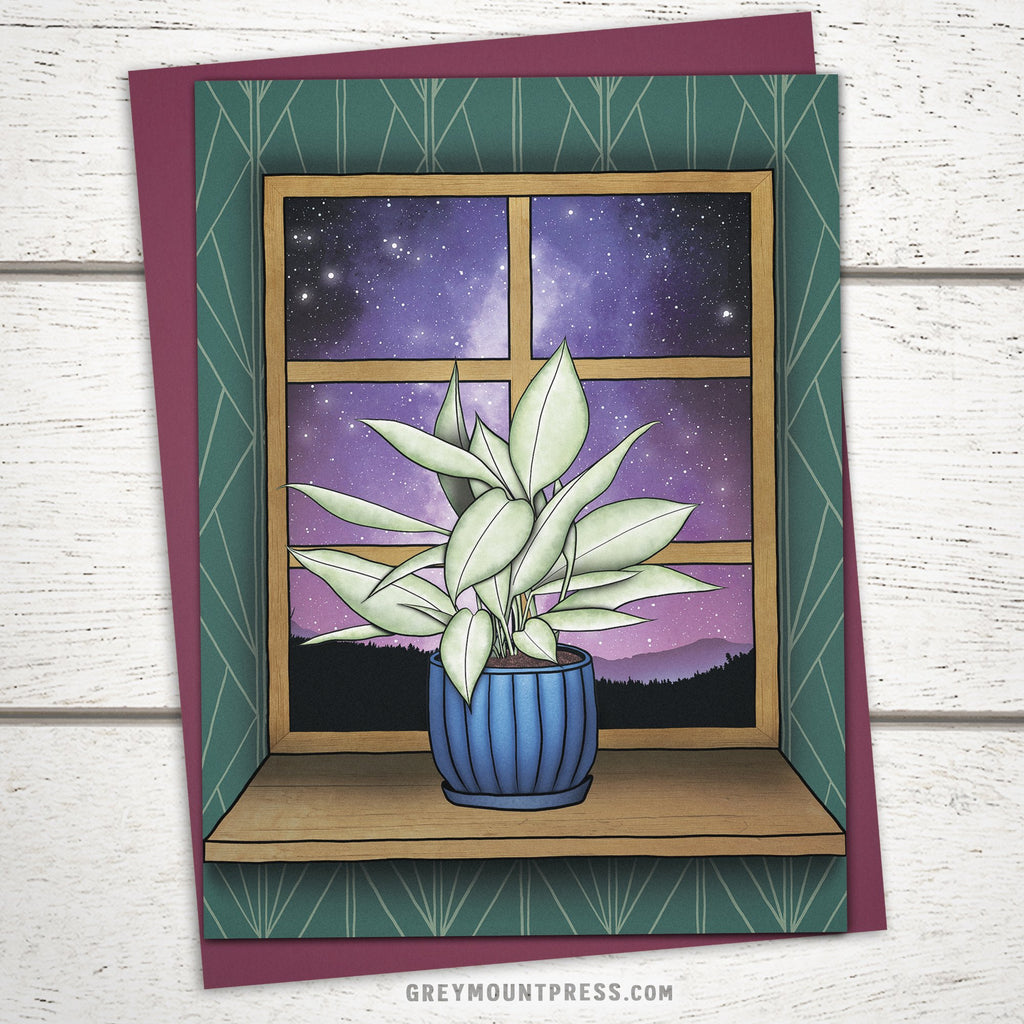 'Houseplant Dreams' Greeting Card