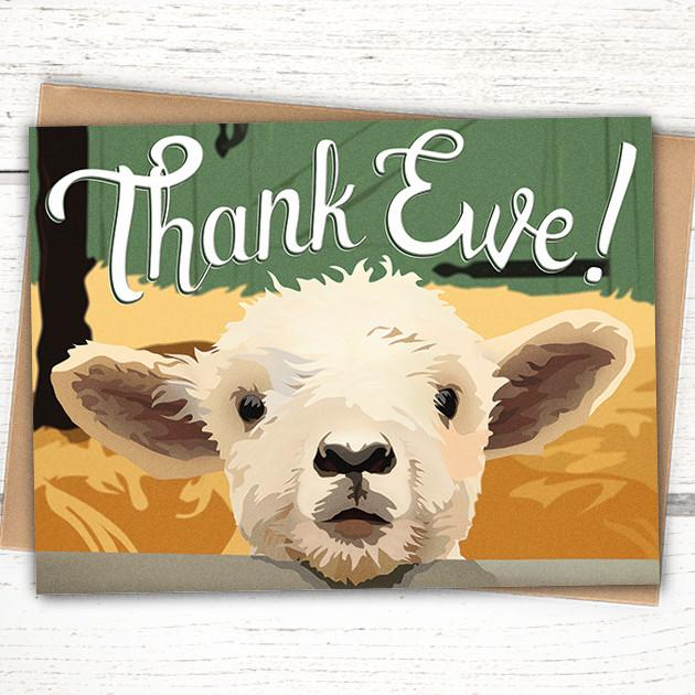 'Thank Ewe' Lamb Card