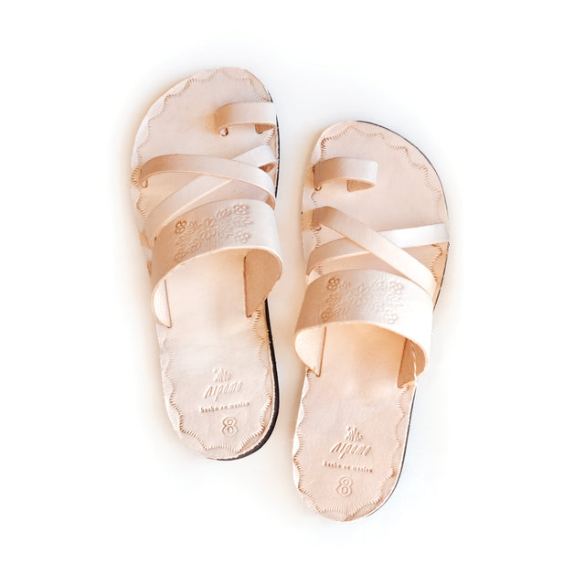 Nipomo Leather Sandals- Sandalia Natural