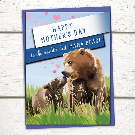 'World's Best Mama Bear' Mother's Day Card