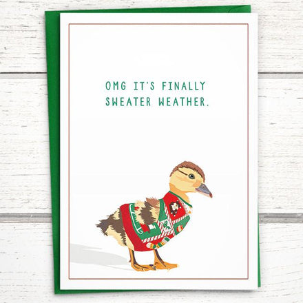 'OMG it's Sweater Weather' Holiday Card