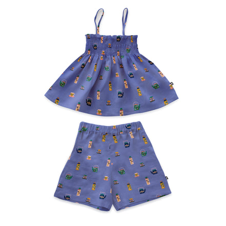 Oeuf Girls Linen Smock Set
