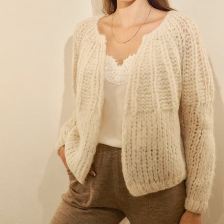 Michele and Hoven Simone Loop Hand Knit Sweater