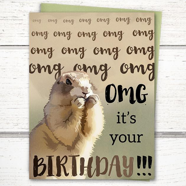 'OMG! It's Your Birthday!' Card