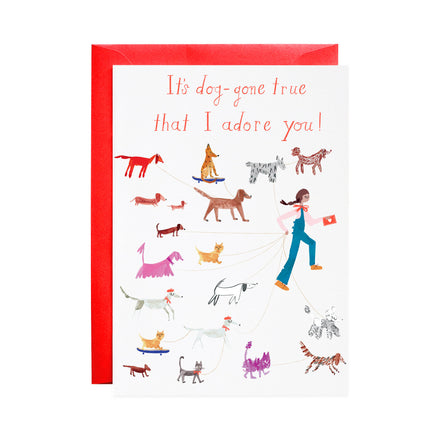 'Puppy Love' Greeting Card