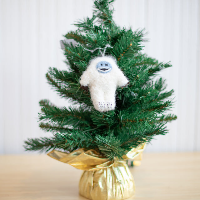 Fuzzy Yeti Ornament