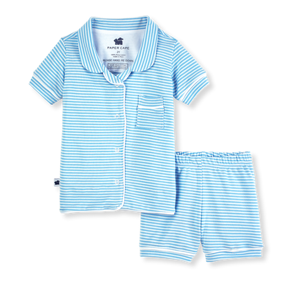 Paper Cape Short Sleeve Classic Pajamas - Striped