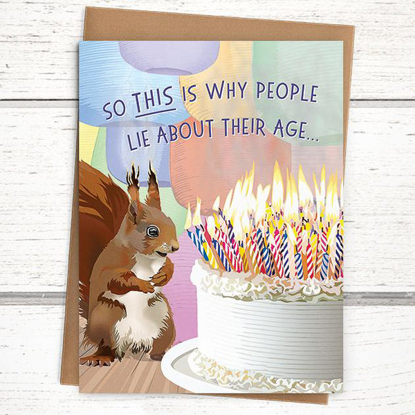 'Squirrel' Birthday Card