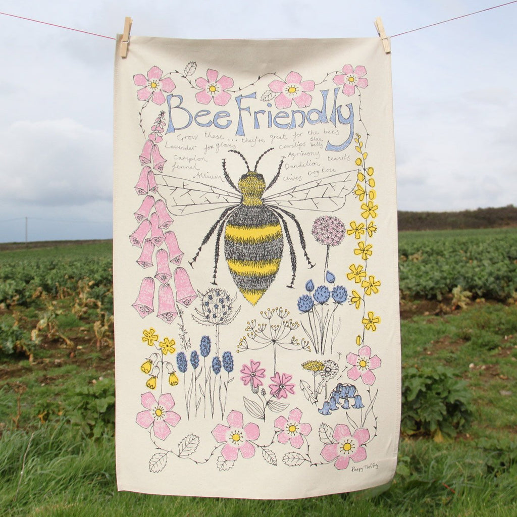 Bee Friendly Tea Towel