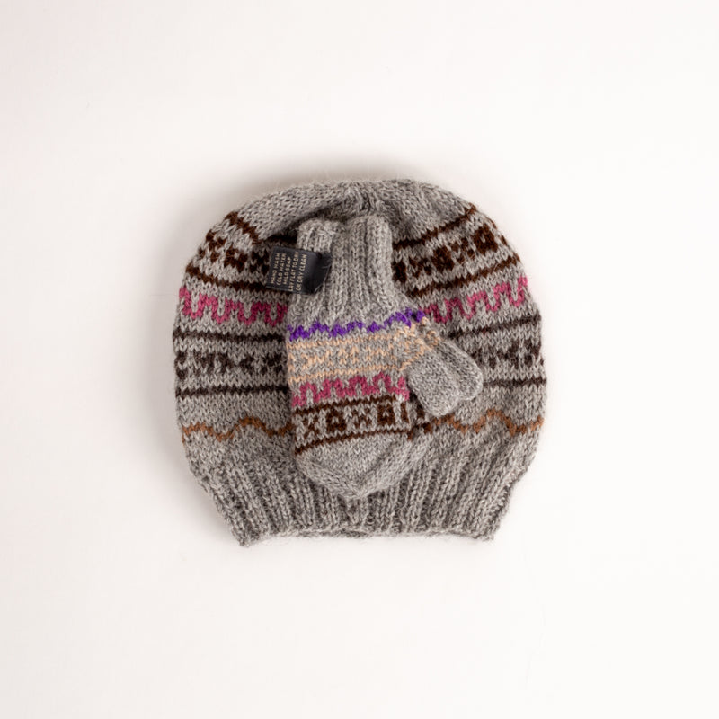 Children's Knit Hat and Mittens Set