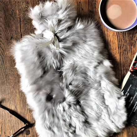 Samantha Holmes Alpaca Fur And Lambskin Hot Water Bottle