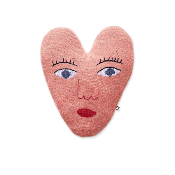 Oeuf Heart Face Pillow