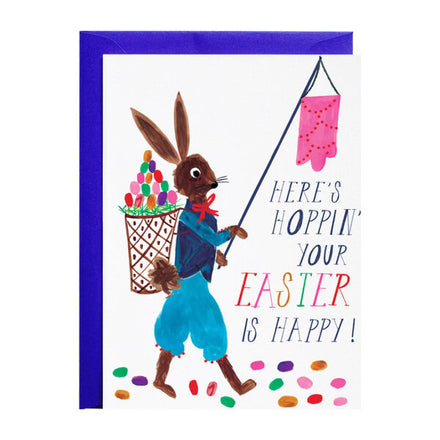 'Hoppin' Around on Easter Day' Greeting Card