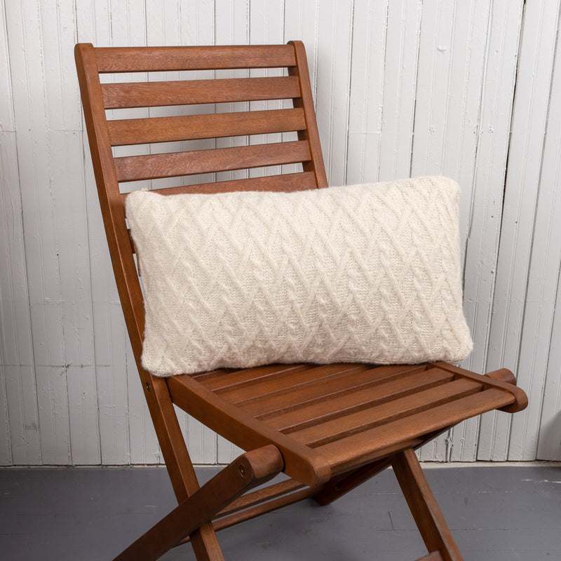 Lattice Cable Pillow