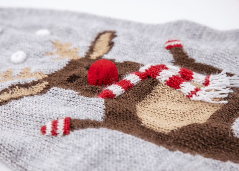 Christmas Moose Dog Sweater