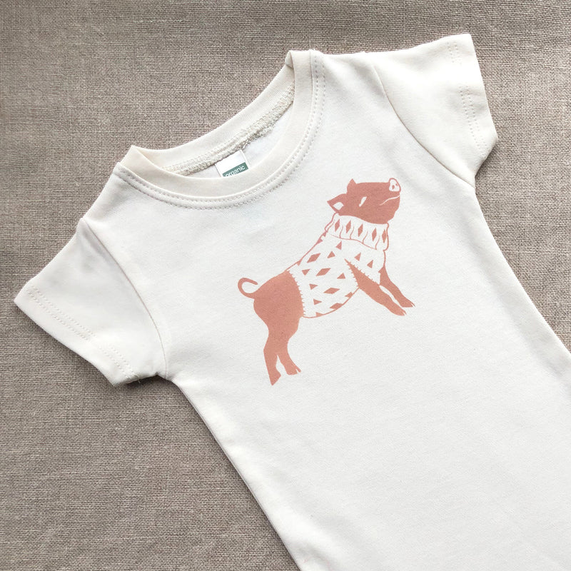 Organic Cotton Farm Animal Onesies
