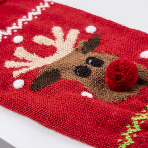 Alqo Wasi Red Rudolph Dog Sweater