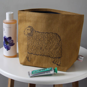 Sleepy Sheep Embroidered Wash Bag