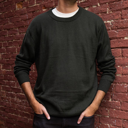 Men's Royal Alpaca Crewneck Sweater